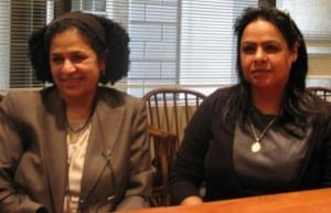 Rula Al-Saffar (left) and Jehan Matooq are among medical professionals in Bahrain where medics continue to experience repression. Credit: Tula Connell