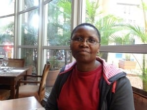 Gertrude Mtsweni, COSATU national gender coordinator (click image for video). Credit: Tula Connell/Solidarity Center
