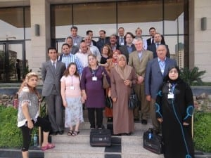 Iraqi union leaders and Solidarity Center staff last May. Credit: Solidarity Center