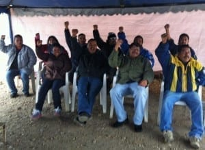Workers in Mexico launched a hunger strike for justice at PKC autoparts plants. Credit: Javier Zuniga/Los Mineros