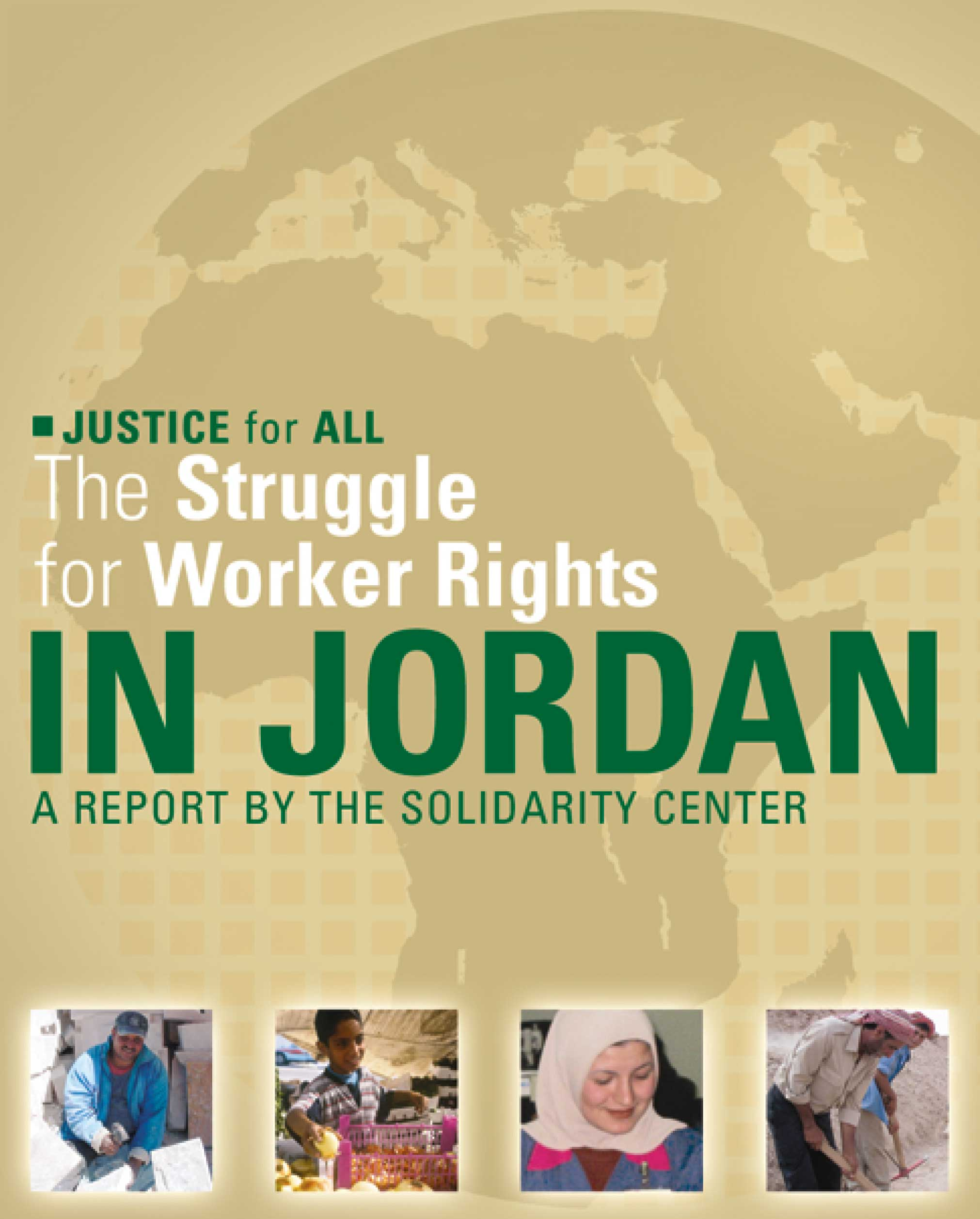 The struggle for worker's rights in Jordan report poster