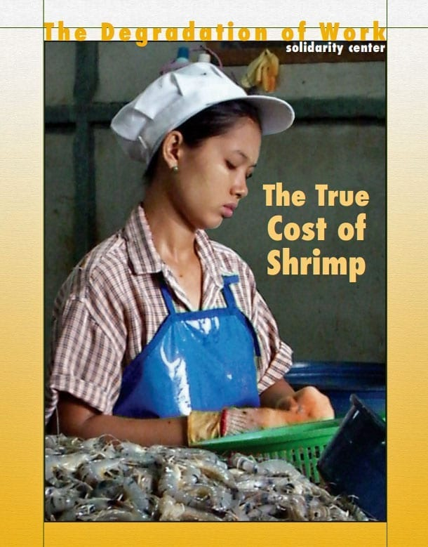 True Cost of Shrimp 2008 report poster