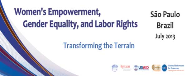 Workshop Strategic Alliances for Working Women's Rights: Unions and NGOs