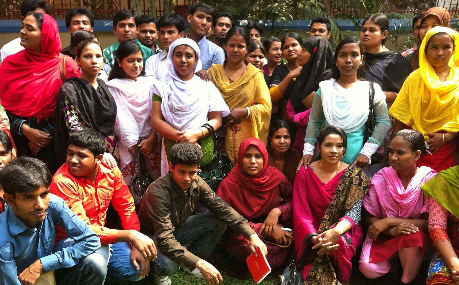 Garment worker leaders at a meeting