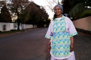 Salome Molefe is a domestic worker and union organizer in a suburb of Johannesburg, South Africa. The Solidarity Center is conducting test litigation there to remedy health and safety laws that do not cover domestic workers. Credit: Solidarity Center/Jemal Countess