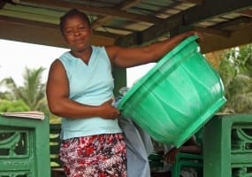 Liberian domestic worker and DOWUL member. Photo: Bill E. Diggs.crop