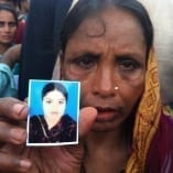Mom who lost her daughter at RP, 6-29-2013 action day in Dhaka credit BCWS