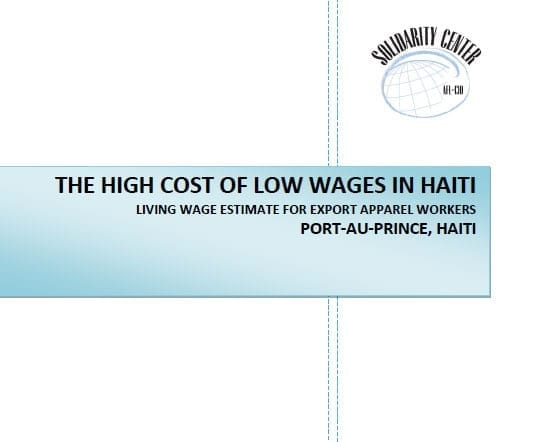 The High Cost of Low Wages in Haiti