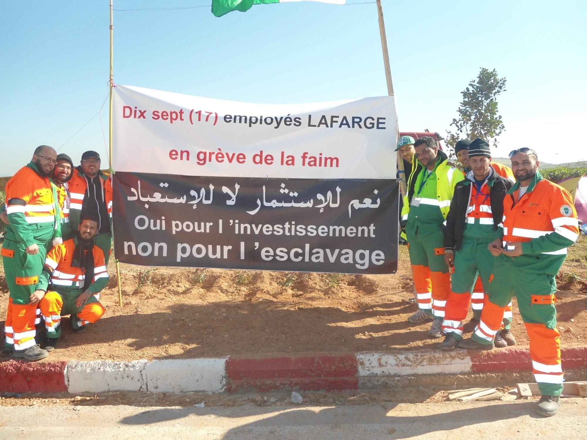 Algeria Lafarge Cement Hunger Strike
