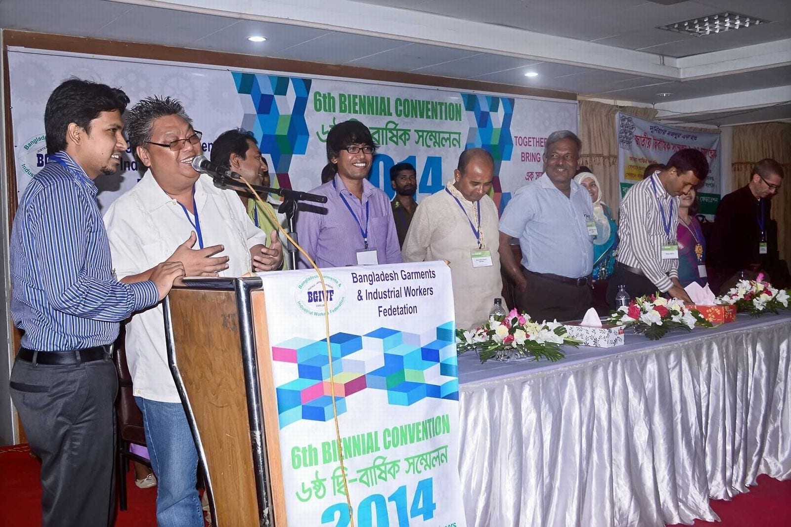 Participants at a recent BGIWF convention