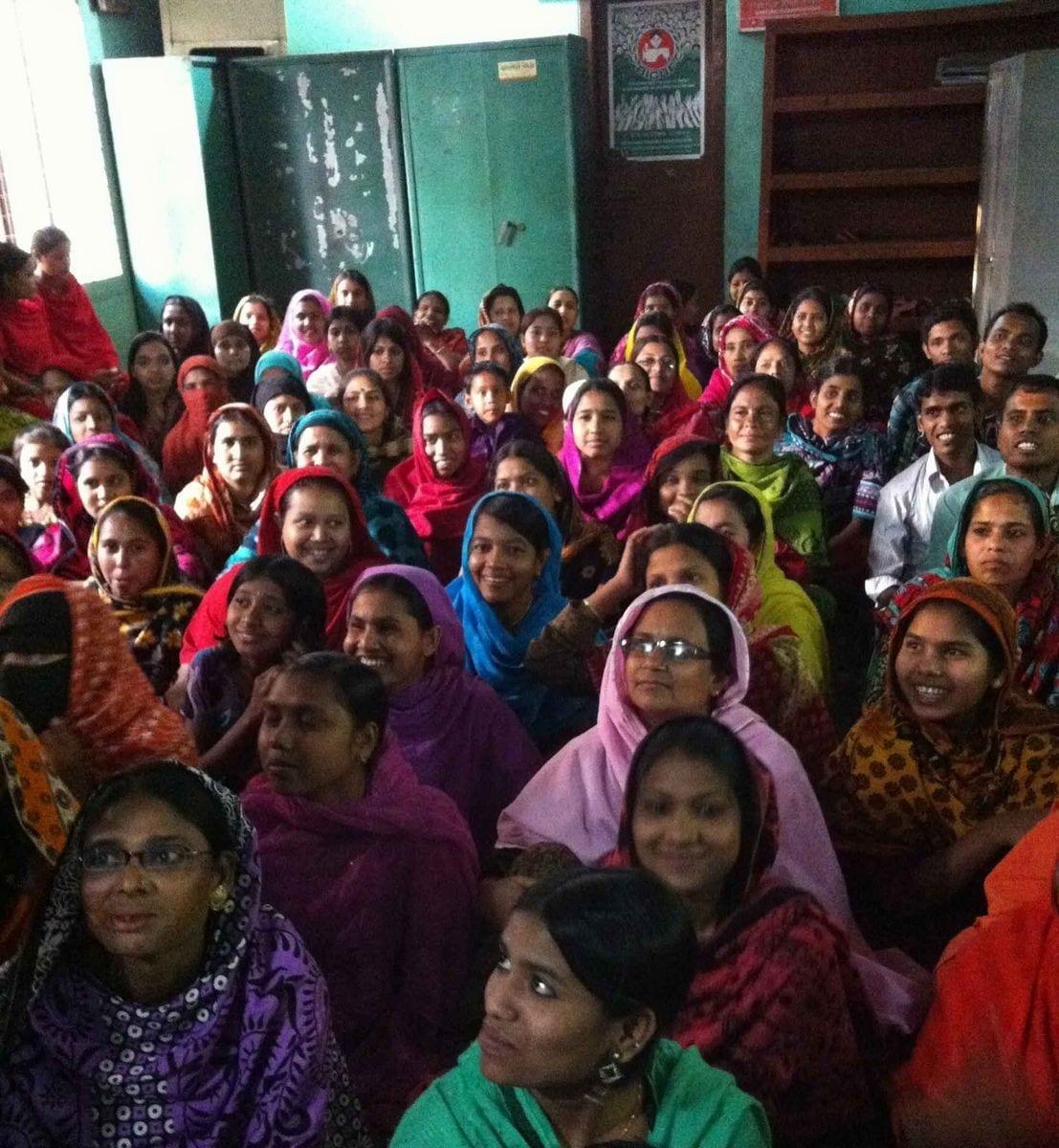 Bangladesh union activists meeting in Dhaka