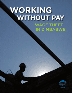 Zimbabwe, wage theft report, Solidarity Center