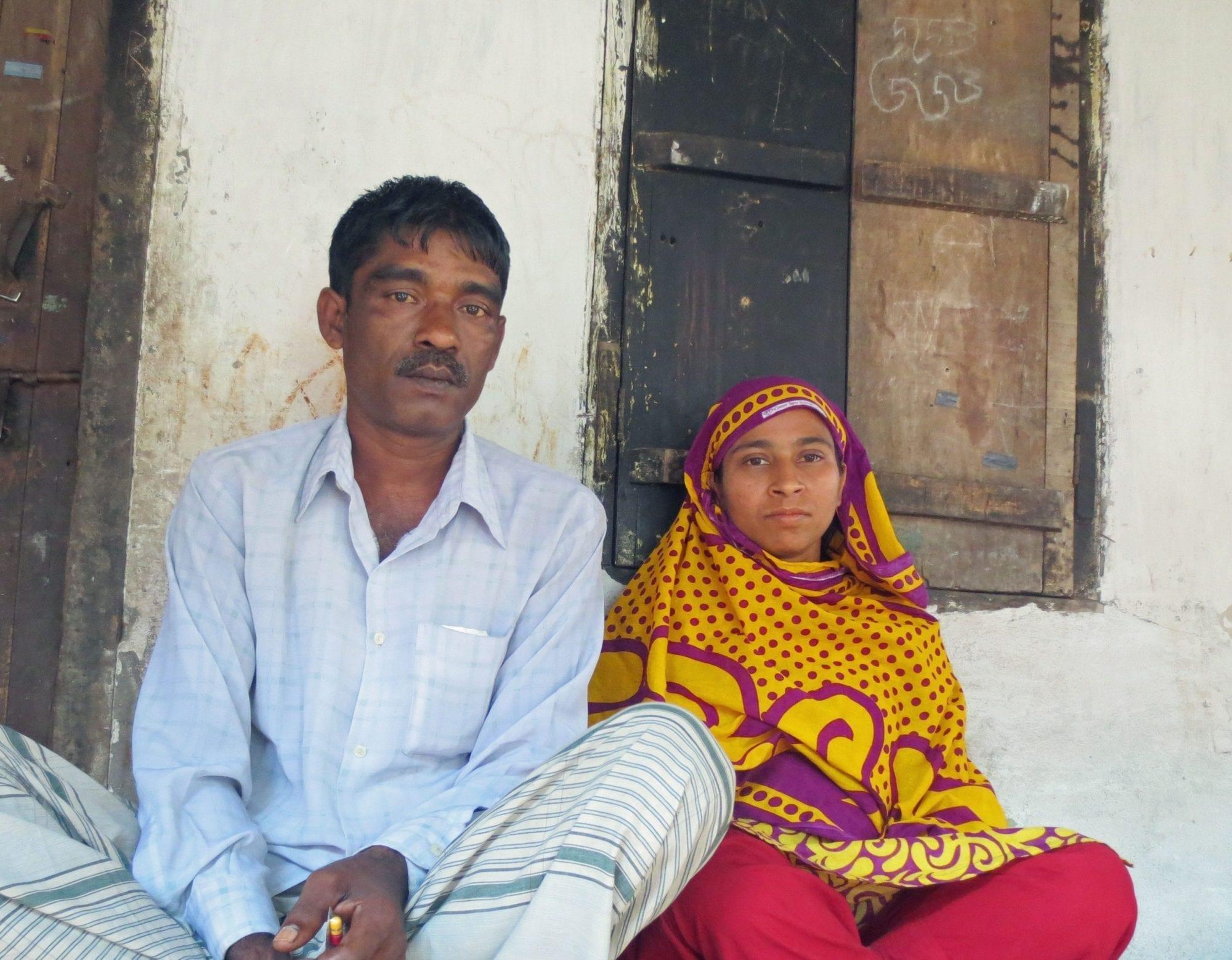 Hamida Begum and husband