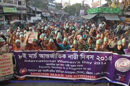 Bangladesh Womens Day 2014 march