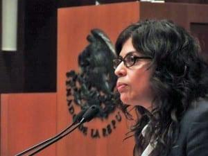 Alejandra Ancheita.Senate speech.3.15.Comisión de DDHH