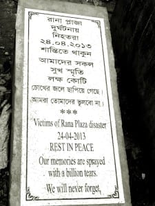 Bangladesh.Rana Plaza plaque.4.15.Balmi Chisim