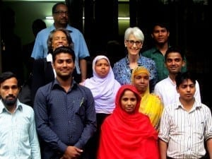 Bangladesh.Wendy Sherman visit Sherman in group.Balmi Chisim