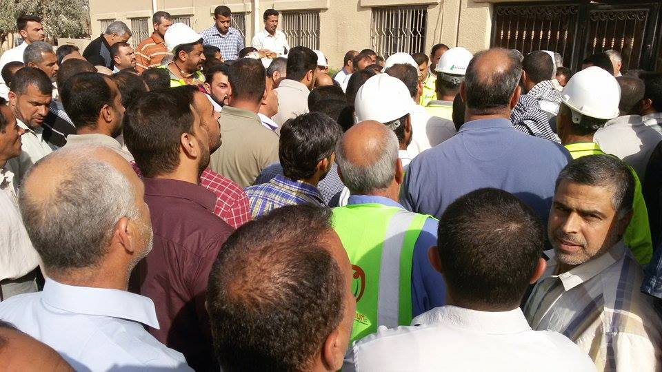 Iraqi Cement Workers Stand up for Rights at Work