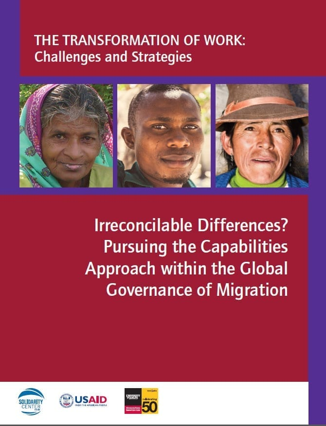 Irreconciliable Differences? Pursuing the Capabilities Approach within the Global Governance of Migration (2014)