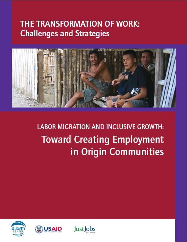 Labor Migration and Inclusive Growth: Toward Creating Employment in Origin Communities (2015)