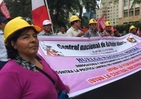 Peru.Mineworker strike 15.5.15 (2)