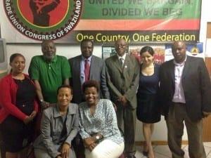 Swaziland.ITUC delegation.5.15.STAWU