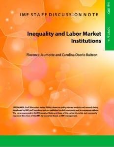 IMF, unionization, minimum wages