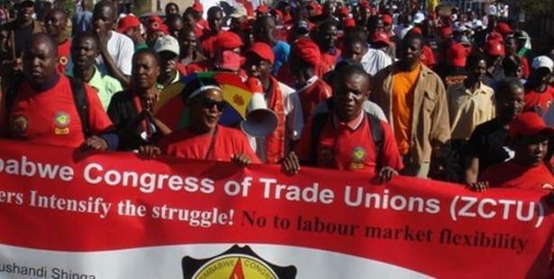 Zimbabwe, Solidarity Center, unions
