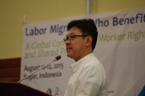 migrant workers, Solidarity Center, Muhammad Hanif Dhakiri, Indonesian minister of manpower and transmigration