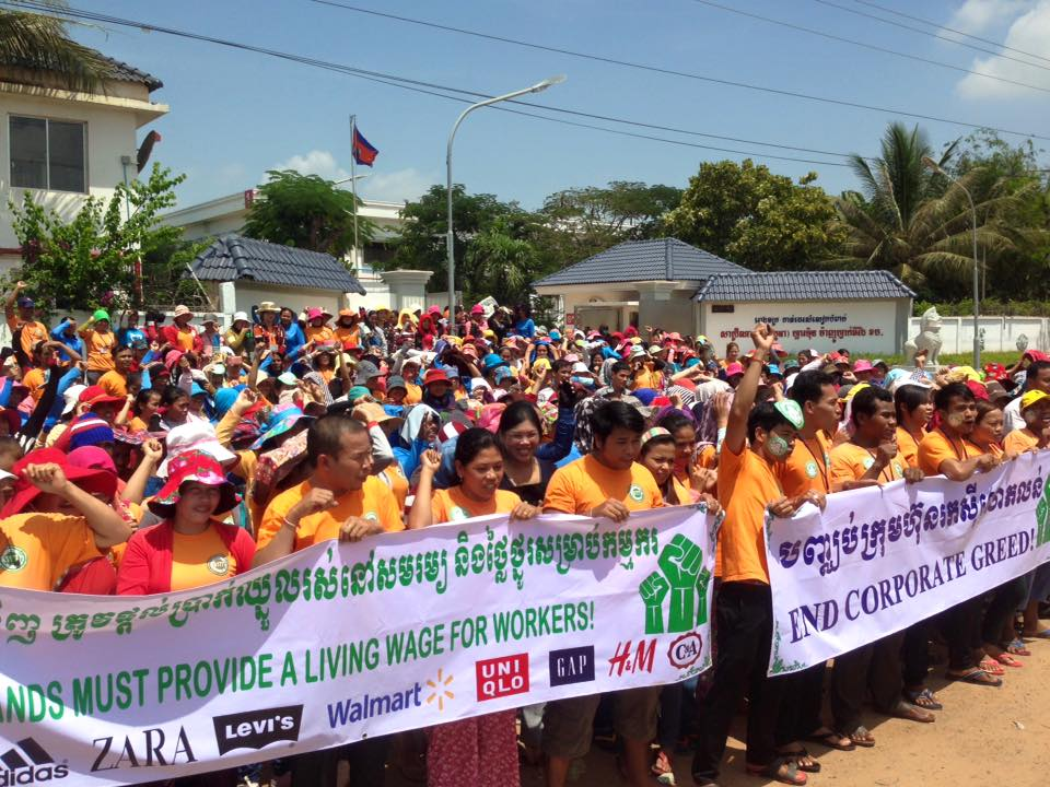 Cambodian Garment Workers Rally for Minimum Wage Raise