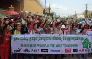 Cambodia, minimum wage, Solidarity Center, Decent Work Day