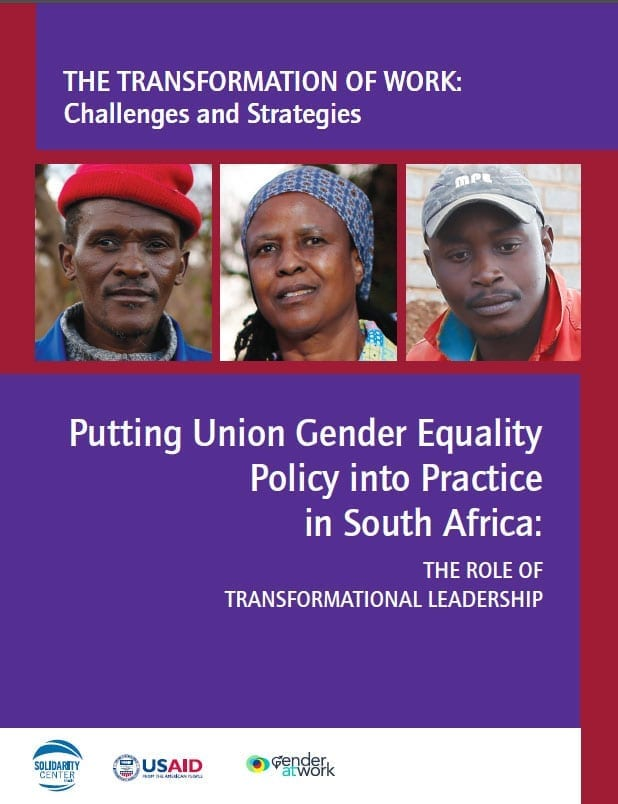 Solidarity Center, gender equality, South Africa, unions, labor