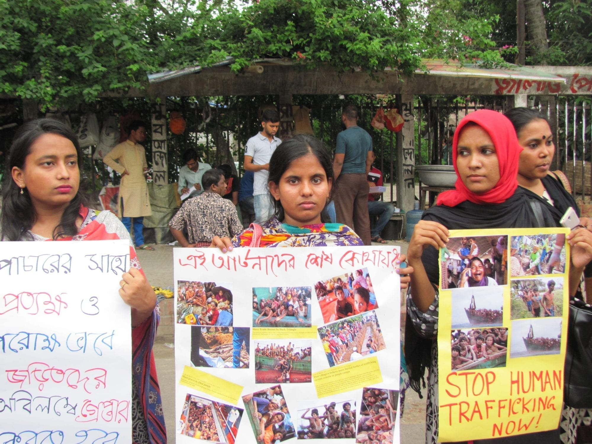 Migrants from Bangladesh, protest