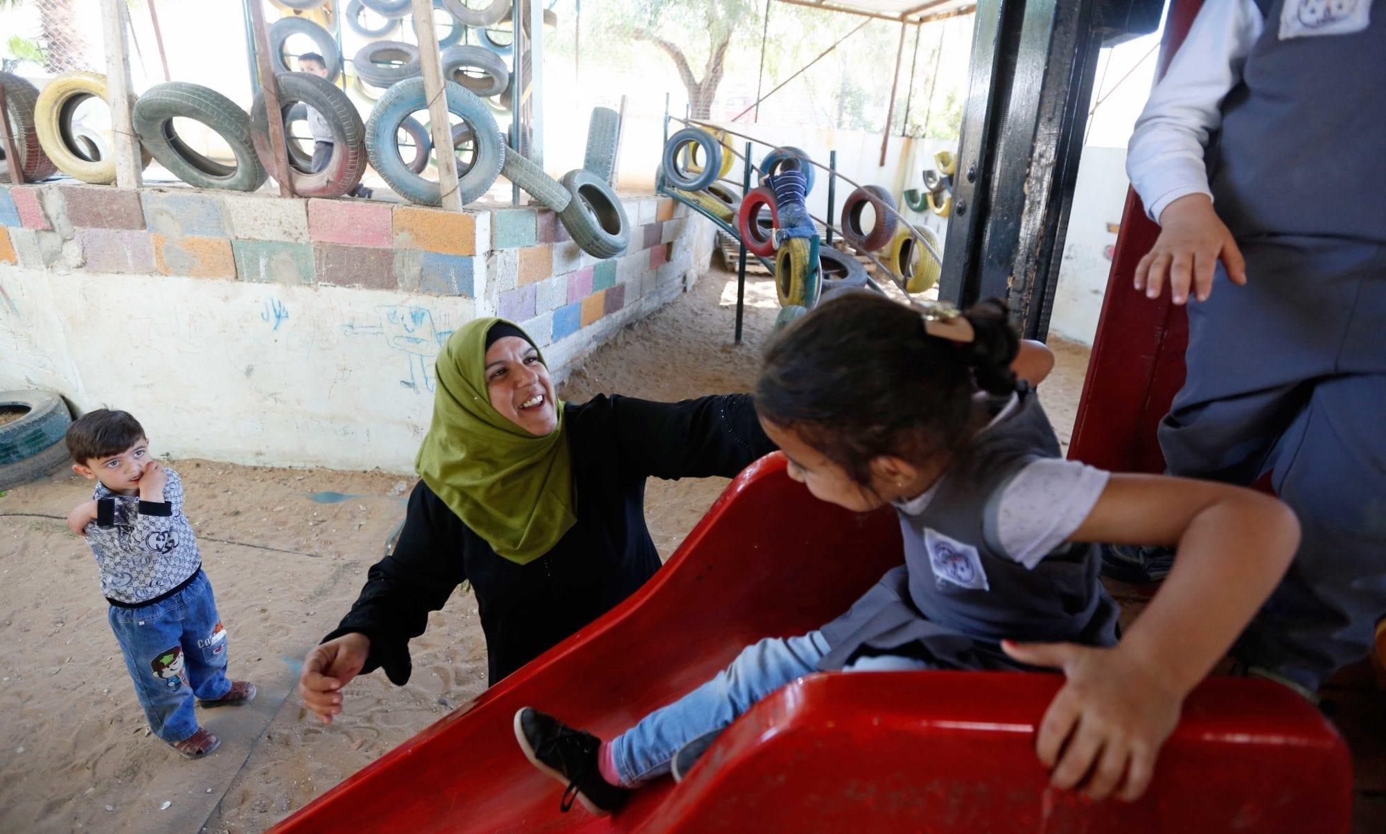 Palestine, unions, kindergarten teacher, Solidarity Center