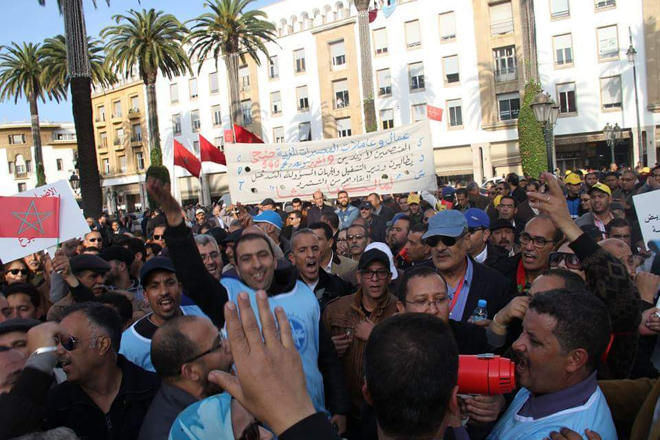 Morocco Government Assaults Spur Sit-in