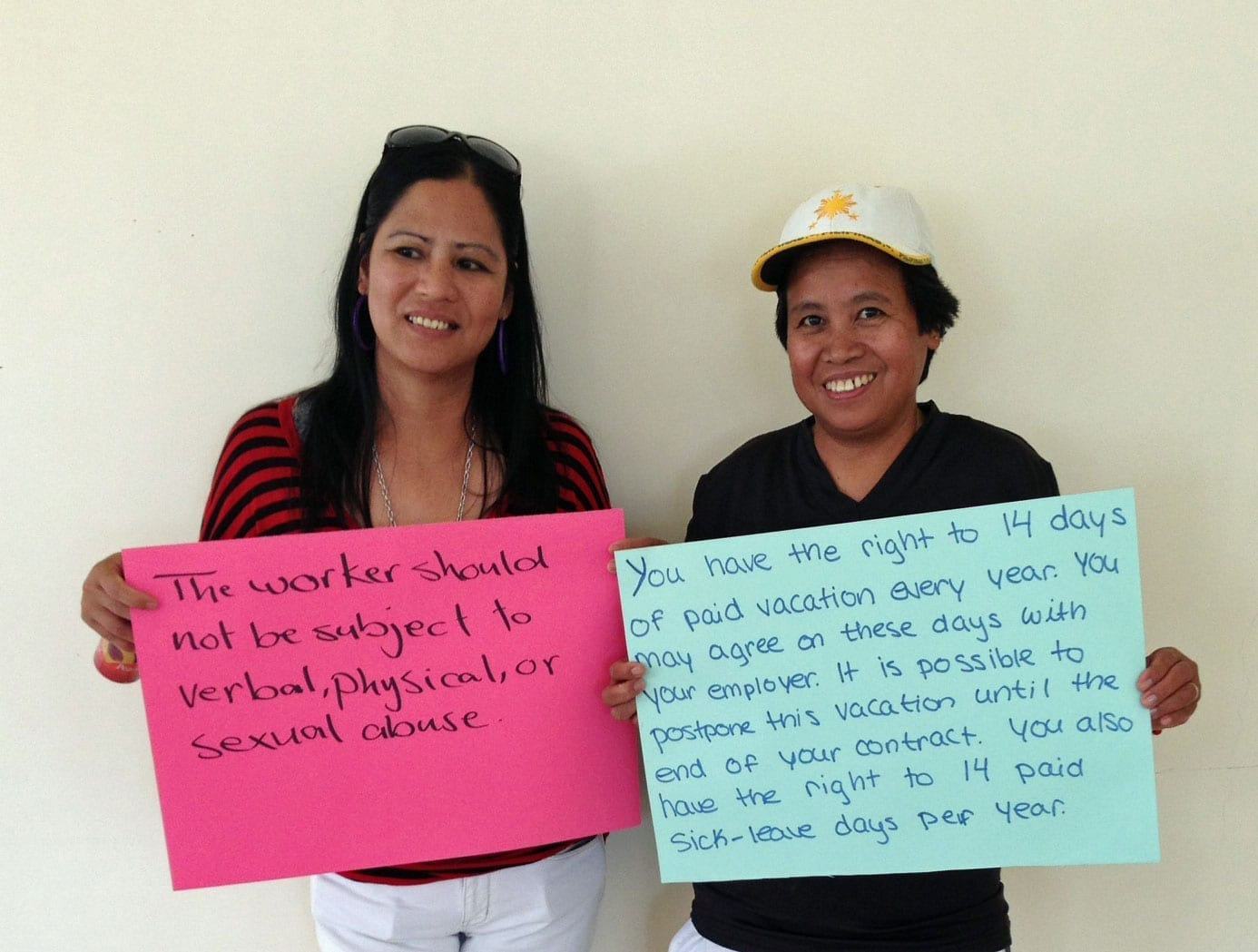 Jordan, Filipina domestic workers, human trafficking, forced labor, Solidarity Center
