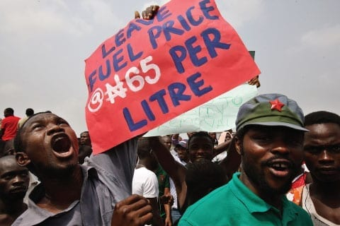Nigeria, fuel subsidy protests, Solidarity Center