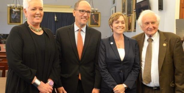 Gayle Smith, USAID, Labor Secretary Tom Perez, Sandy Levin, Shawna Bader-Blau, Solidarity Center, human rights