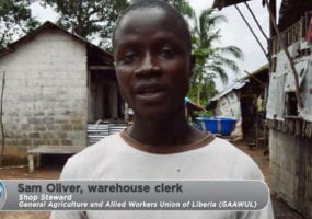 Liberia, rubber plantation, unions, worker rights, human rights, Solidarity Center