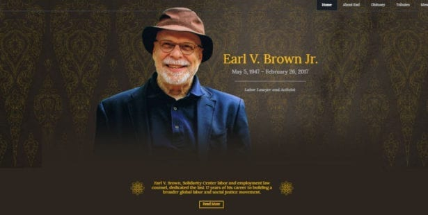 Earl Brown, Solidarity Center