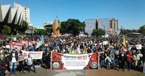 Brazil, general strike, pension, human rights, Solidarity Center