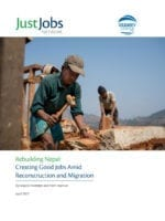 Nepal earthquake, Solidarity Center, migration, jobs