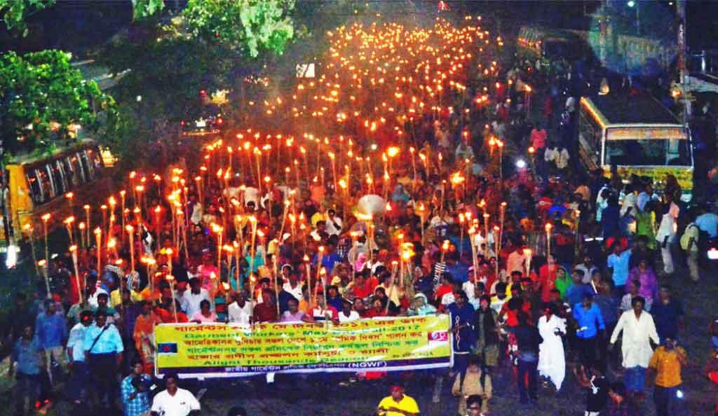 Bangladesh, garment workers, May Day 2017, Solidarity Center