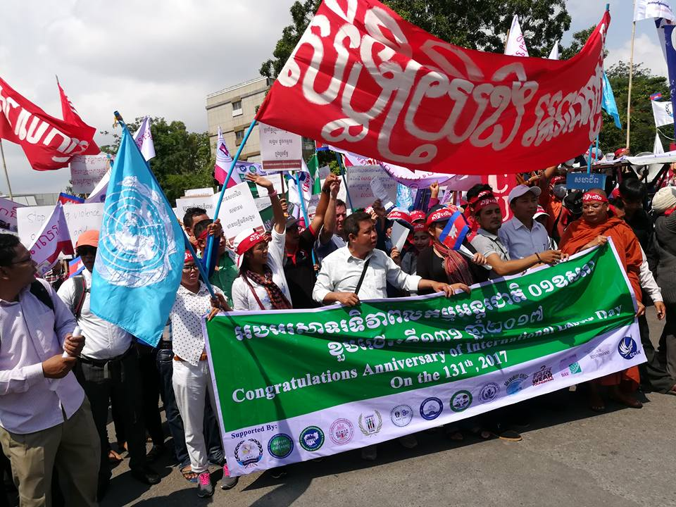 Cambodia, May Day 2017, Solidarity Center, human rights