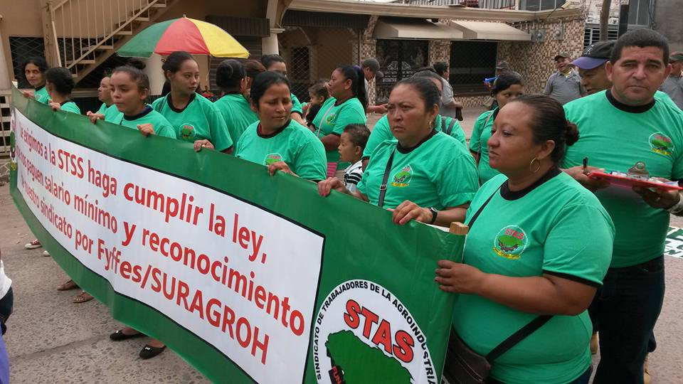 Honduras, Solidarity Center, agricultural workers, May Day 2017