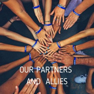 Solidarity Center, hands together with caption Our Partners and Allies