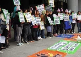 Hong Kong, Women's Day, domestic workers, Solidarity Center