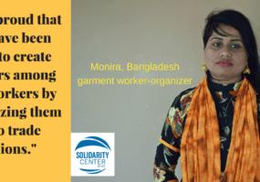 Bangladesh, garment workers, unions, Solidarity Center