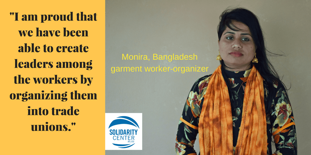 Bangladesh, garment workers, unions, Solidarity Center