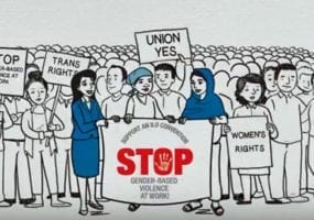gender-based violence, gender equality, Solidarity Center, unions, women's rights